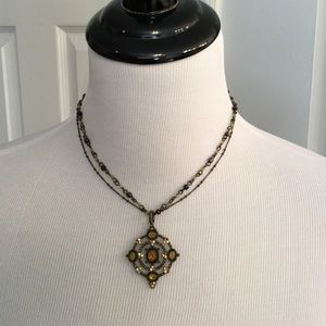 Beautiful Brown and Green Necklace